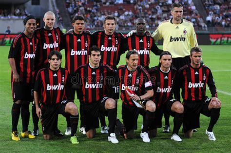 AC Milan football team editorial photo. Image of italy ...