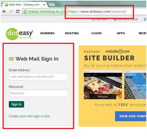 Accessing your emails using Horde | Doteasy Web Hosting