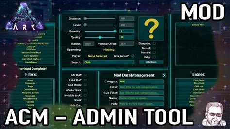 ACM   Admin Command Menu  Ark Mod Spotlight  PT   YouTube