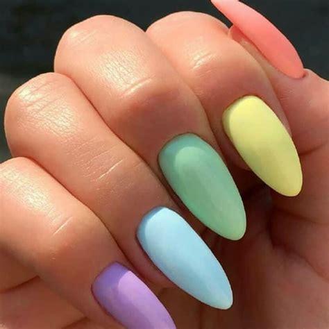 Acrílico forma de almendra y colores veraniegos!! te ...
