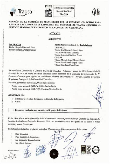 Acta 32 Comisión de Seguimiento VI Convenio Colectivo