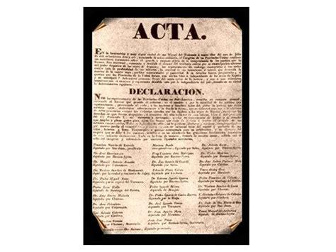 Acta de la Declaración de la Independencia | Colegio San ...