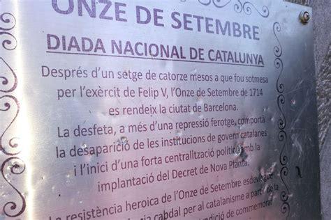 » Actes vandàlics contra el monument de l'Onze de Setembre ...