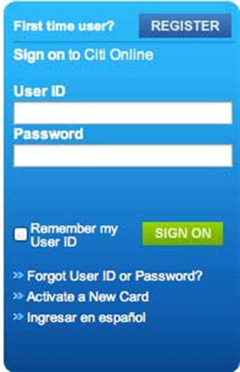 Activate your Account Online on Citicards.com | Register ...