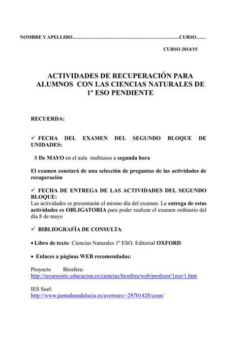 ACTIVIDADES PENDIENTES 1º ESO 2