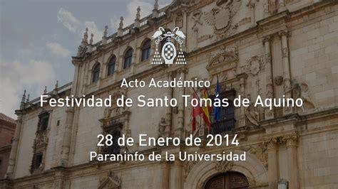 Acto Académico: Festividad Santo Tomás de Aquino   28/01 ...
