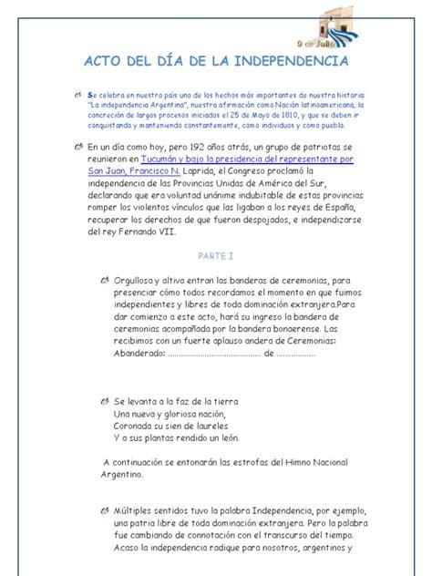 Acto Declaración de la Independencia