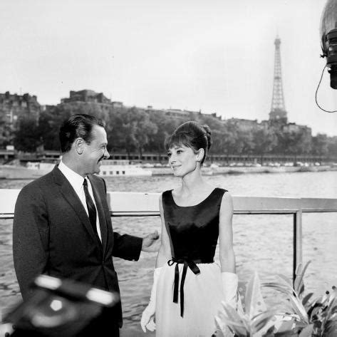 Actors William Holden and Audrey Hepburn on the Set of the ...