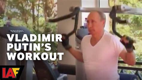 Actual Audio Of Vladimir Putin's Workout Video   YouTube
