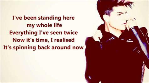 Adam Lambert   Runnin  [FULL SONG]   LYRICS   YouTube