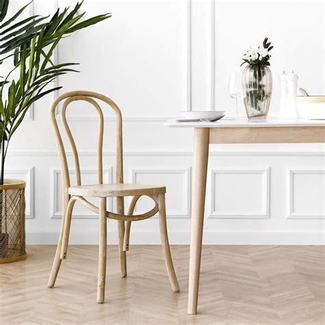 Adele silla de comedor cómoda de madera acabado natural ...