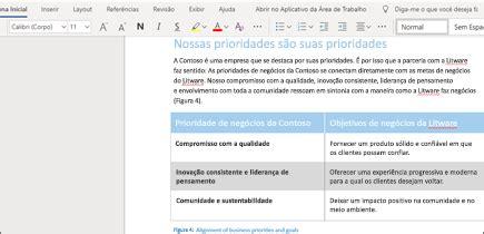Adicionar e formatar texto no Word Online   Word
