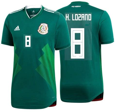 ADIDAS HIRVING LOZANO MEXICO AUTHENTIC MATCH HOME JERSEY ...