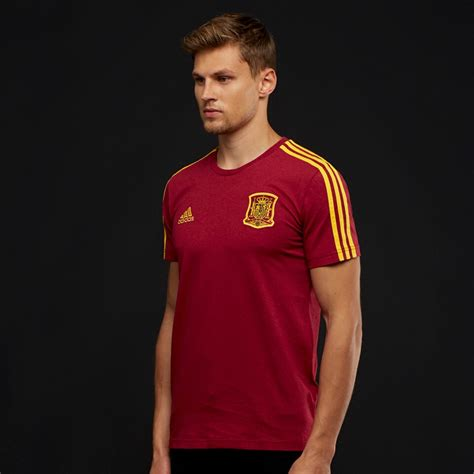 adidas Spain 2018 3 Stripe Tee   Mens Replica   CE8847   T ...