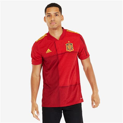 adidas Spain 2020 Home Shirt   Victory Red   Mens Replica ...