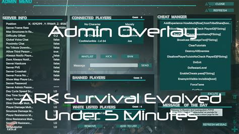 Admin Manager [How to Use Admin GUI] [ARK Survival Evolved ...