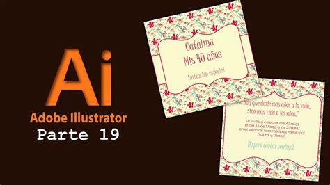 Adobe Illustrator 19  Crear Tarjeta de invitación   YouTube