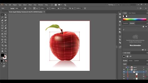 Adobe Illustrator Tutorial   Using the mesh tool Creating ...