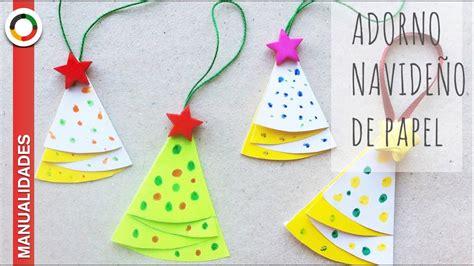 Adorno casero de Navidad: árbol de papel   YouTube
