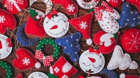 Adornos de Navidad de fieltro fáciles de hacer   Hogarmania