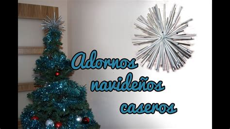 Adornos navideños caseros, manualidades para navidad ...