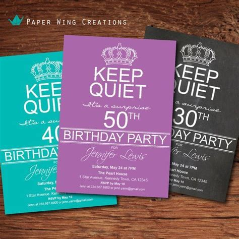 Adult Surprise 50th Birthday Party Invitation. Men / women ...