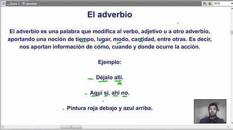 adverbio   gramática española   YouTube