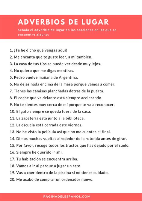Adverbios de lugar   Learning spanish, Spanish teaching ...