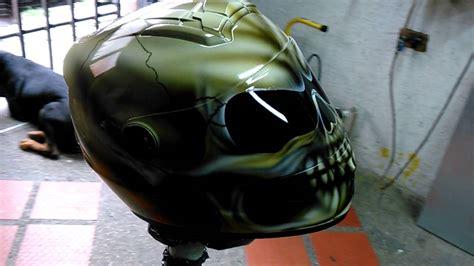 aerografia calavera integral en casco de moto   YouTube