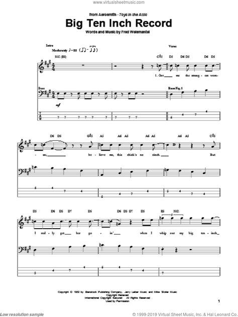 Aerosmith   Big Ten Inch Record sheet music for bass ...