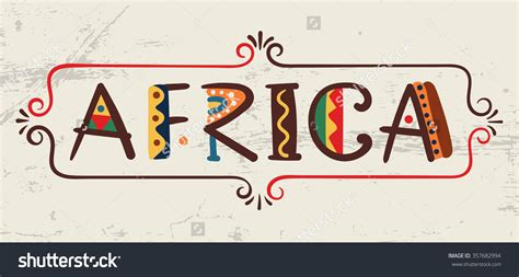 Africa clipart word   Pencil and in color africa clipart word