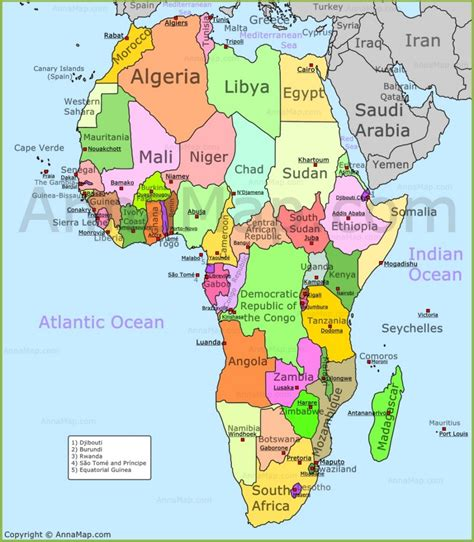 Africa Map | Political map of Africa with countries ...