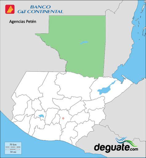 Agencias Banco GyT en Petén | Deguate.com.gt