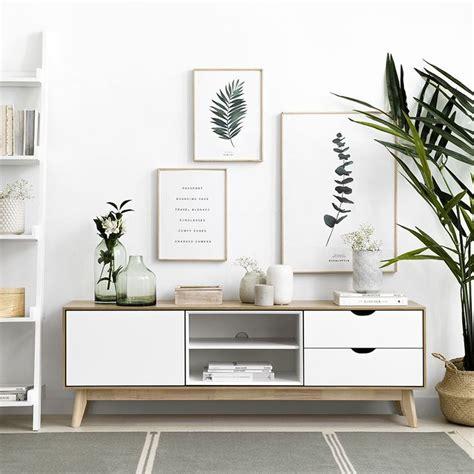 Agnes mueble tv blanco y natural en 2020 | Muebles blanco ...