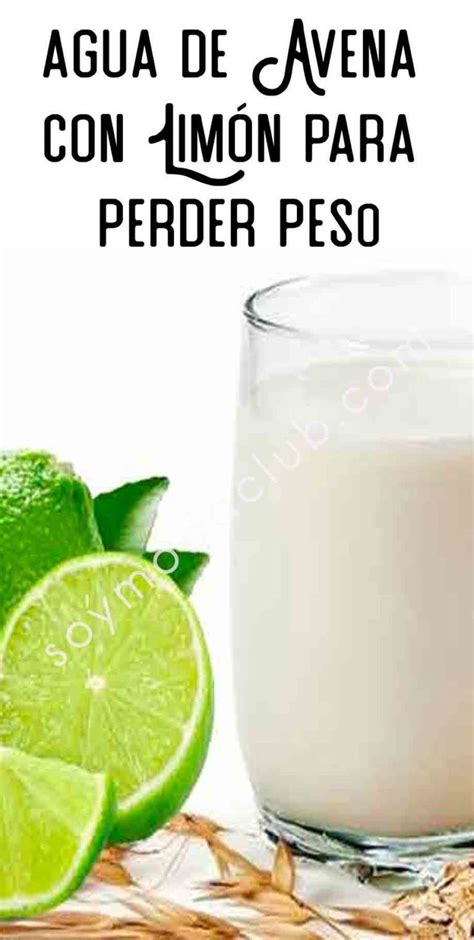 Agua de avena con limón para perder peso | Lemonade ...