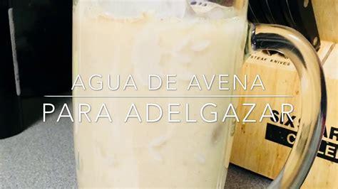 Agua de Avena para Adelgazar   YouTube