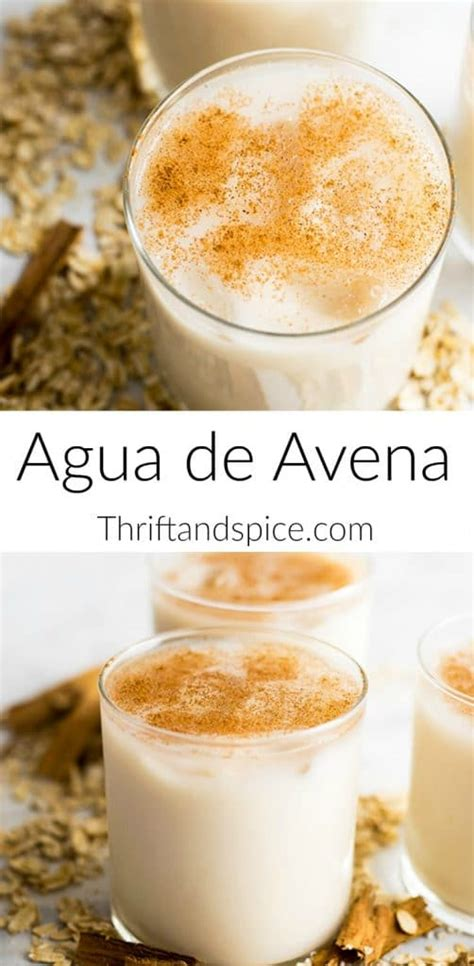 Agua de Avena   Thrift and Spice in 2020 | Mexican drinks ...