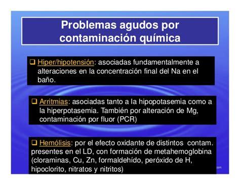agua de hemodialisis consecuencias clinicas