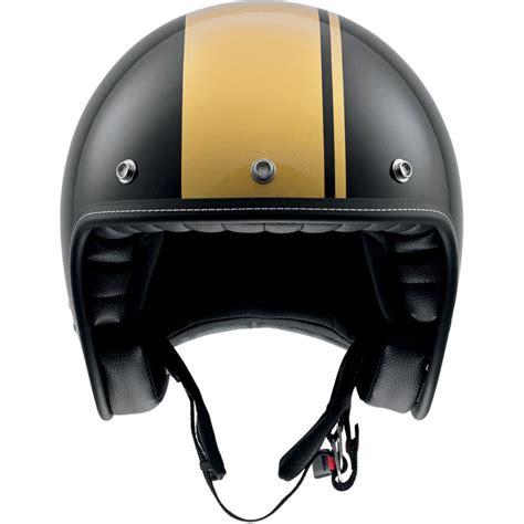 AGV RP60 cafe racer 3/4 black & gold motorcycle helmet | eBay