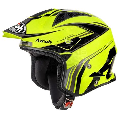 Airoh TRR Trials Helmet   Dapper Yellow