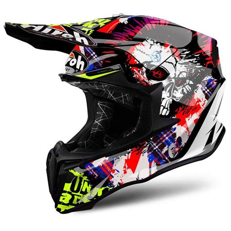 AIROH TWIST CRAZY BLACK MOTOCROSS MX HELMET   Matt ...