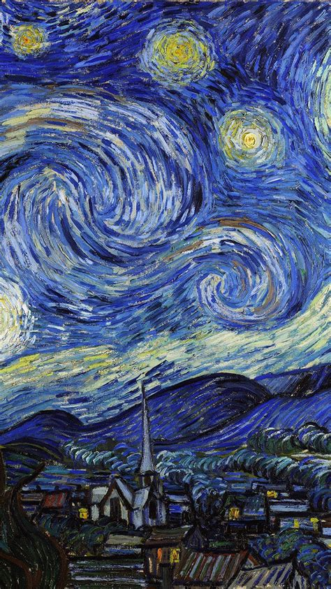 aj42 vincent van gogh starry night classic painting art ...