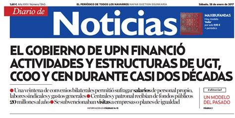 Al Diario de Noticias le disgusta que CCOO y UGT cobren ...