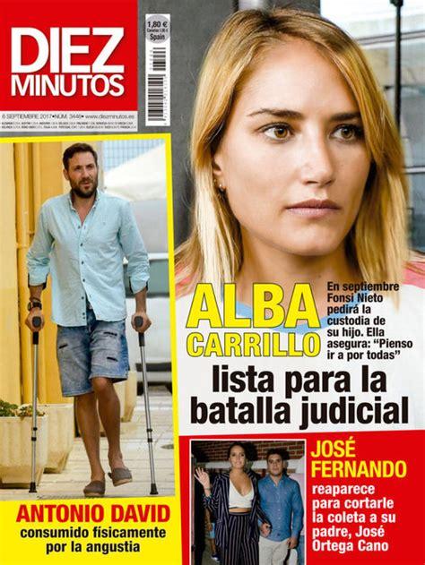 Alba Carrillo protagonista de la portada de Diez Minutos ...