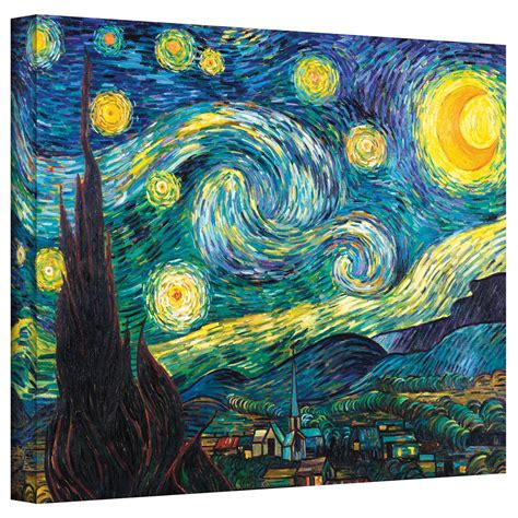 Alcott Hill  Starry Night  by Vincent Van Gogh Print of ...