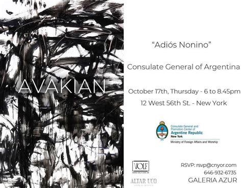 ALEJANDRO AVAKIAN: Exposición en el Consulado Argentino en ...