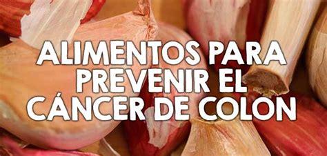 Alimentos para prevenir el cáncer de colon ⋆ Nutrición YG