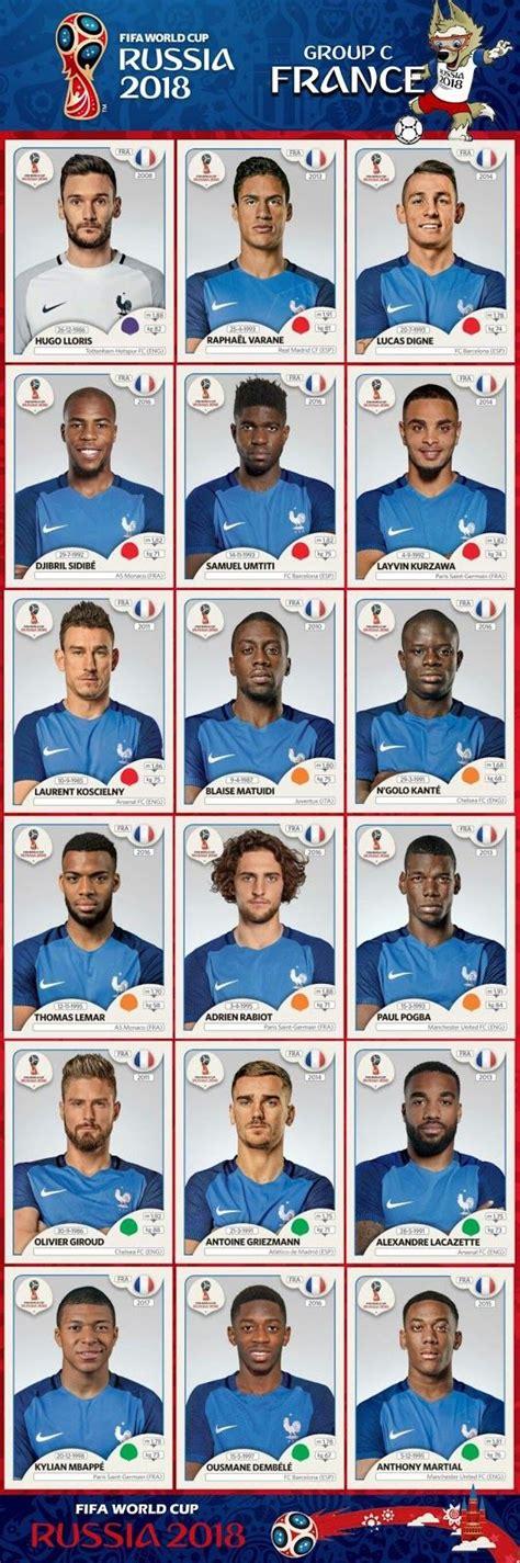 Alineación Completa Selección Francia Mundial Rusia 2018 ...