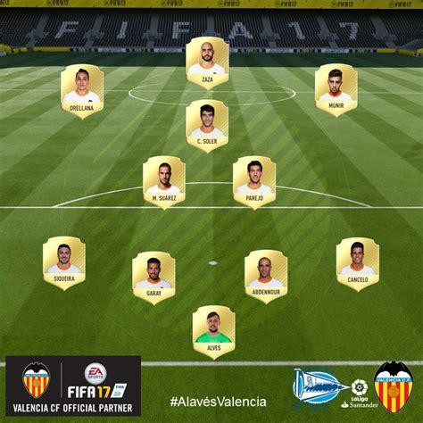 Alineación del Valencia CF vs Deportivo Alavés | Noticias ...