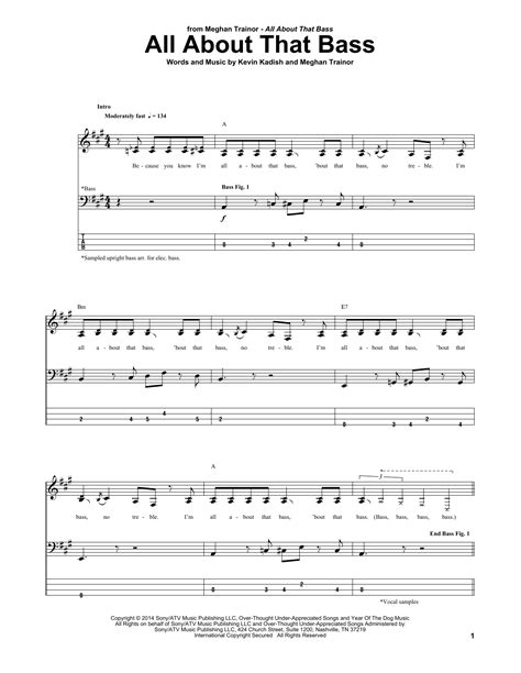 All About That Bass   Sheet Music Direct